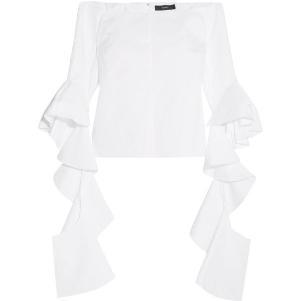 b30c67cd5dc09 Ellery Delores ruffled off-the-shoulder cotton-poplin top (25