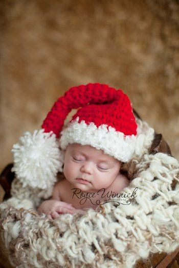 26f4270e71d Santa s Hat Baby Boy or Baby Girl Christmas Photography Prop Sizes Preemie