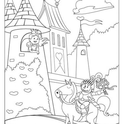 Coloring Pages for Kids | Fairy, Knight and Youth