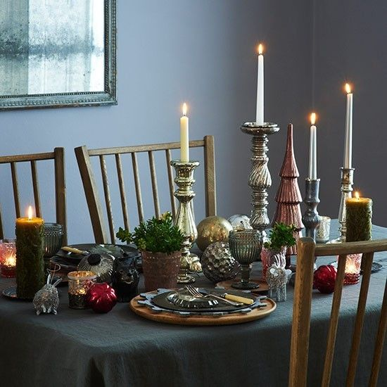 Country Christmas Table Ideas With Images Christmas Table Christmas Dining Room Christmas Table Decorations