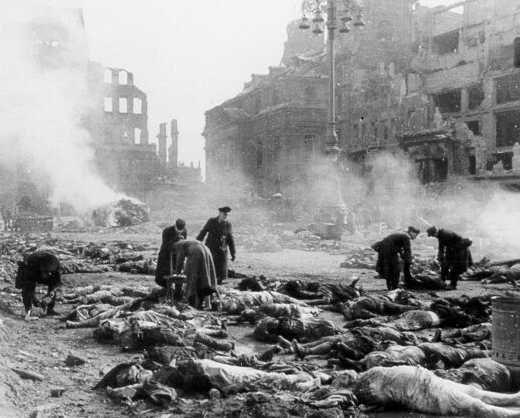 El bombardeo de Dresde.