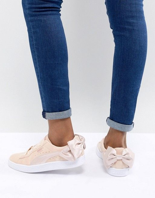 Puma Suede Bow Valentines Sneakers In Pink | Shoes | Pinterest | Puma  suede, Pumas and Fashion online