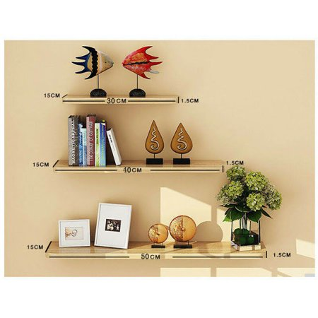 3pcs Invisible Bookshelf Wall Mounted Floating Book Shelf Shelves Storage
