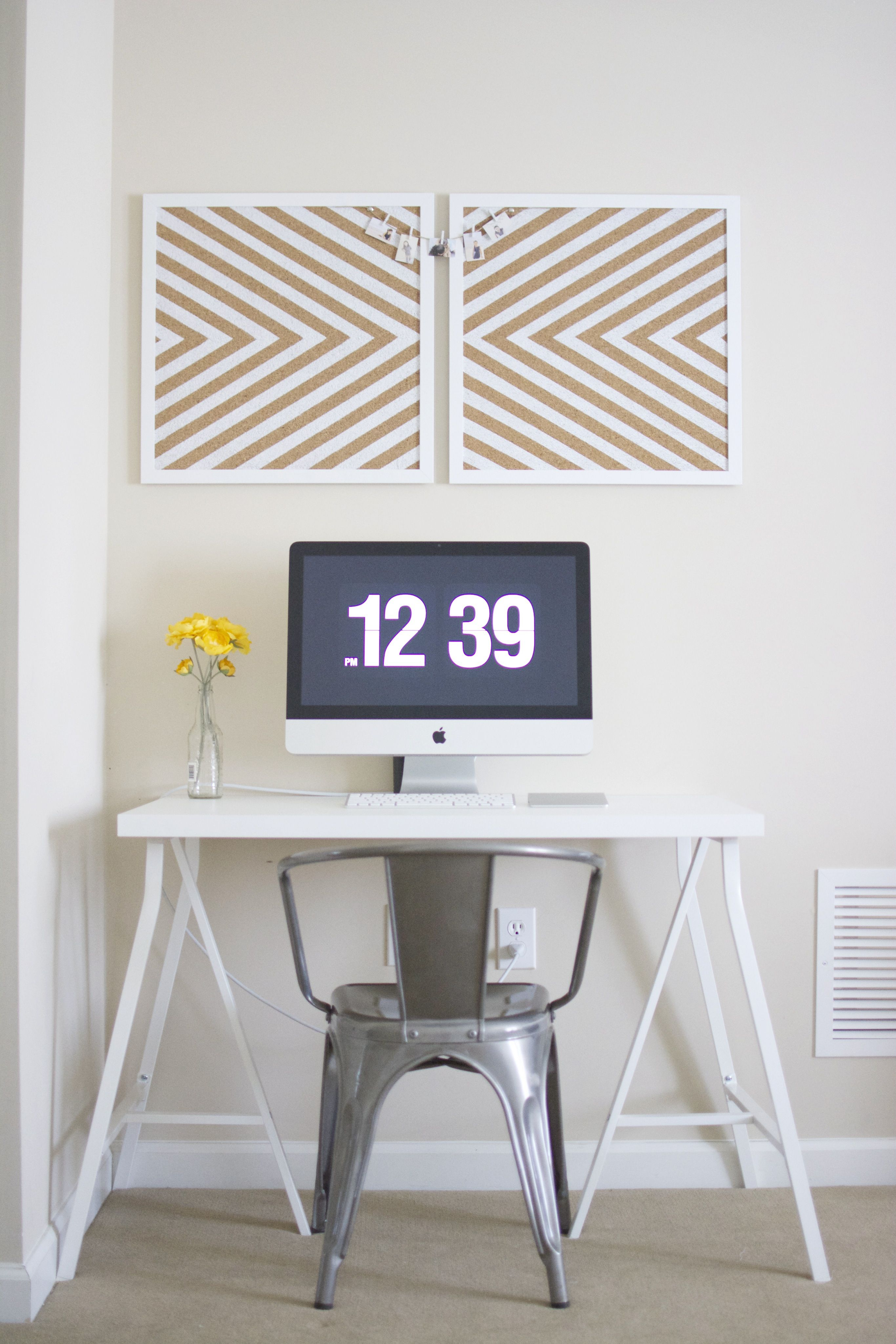 Industrial Chairs Target Folding Chair Cane Diy Painted Corkboard Ikea Linnmon Table Top And Lerberg
