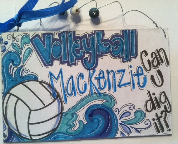 New Volleyball Sign Personalized For Your Favorite Player Or Team Volleyball Posters Volleyball Signs Volleyball Locker Decorations
