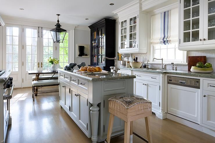 grey kitchen island lovely cottage kitchen boasts a a stainless steel sink and 11971