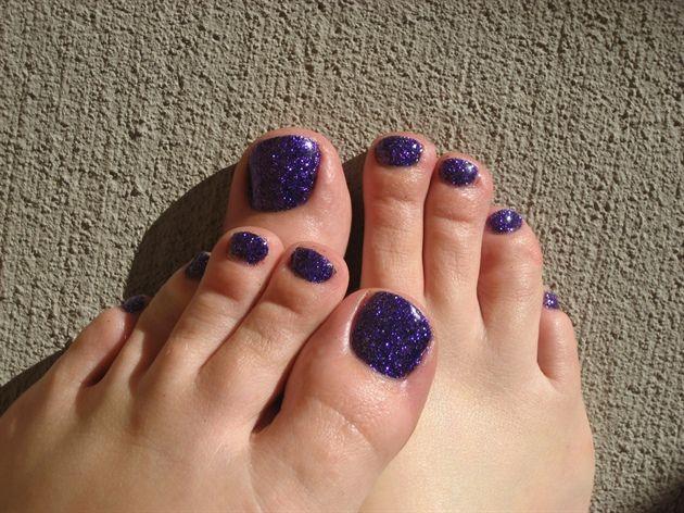 Purple Glitter And Maniq Rock Star Toes By Enjoime Nail Art Gallery Nailartgallery Nailsmag Com By Nails Ma Purple Toe Nails Purple Nail Designs Purple Nails