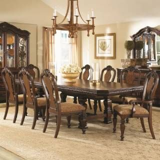 Check out the Legacy Classic Furniture 1080-5pc-Trestle-Table-Side ...