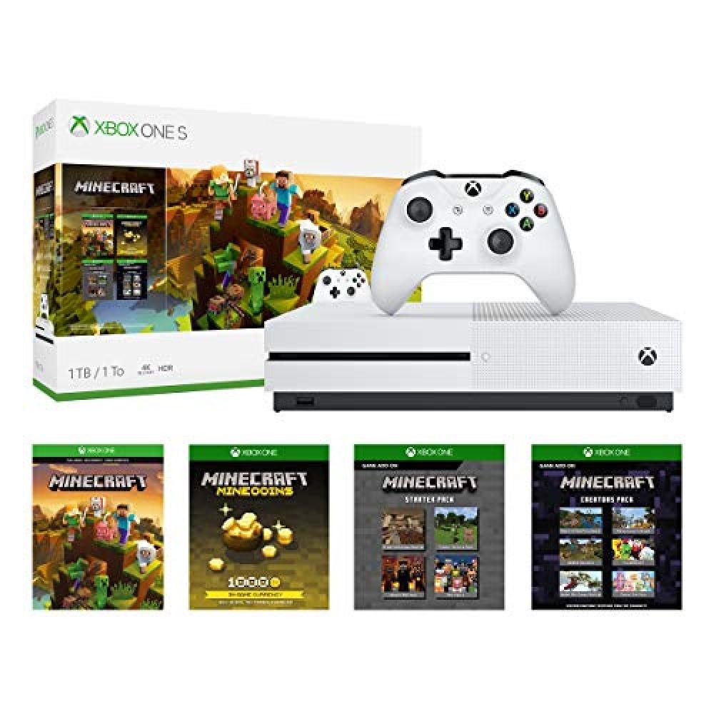 Xbox One S 1tb Console Minecraft Bundle Price 299 99 Free Shipping Consoles Xbox One S 1tb Xbox One S Xbox Wireless Controller