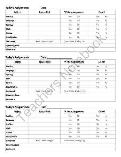 Free Assignment Sheet From Bitzen Peesus On TeachersnotebookCom
