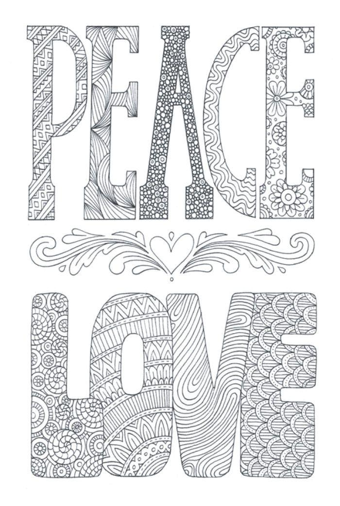 James Newman Gray - Peace And Love | Dibujos para colorear ...