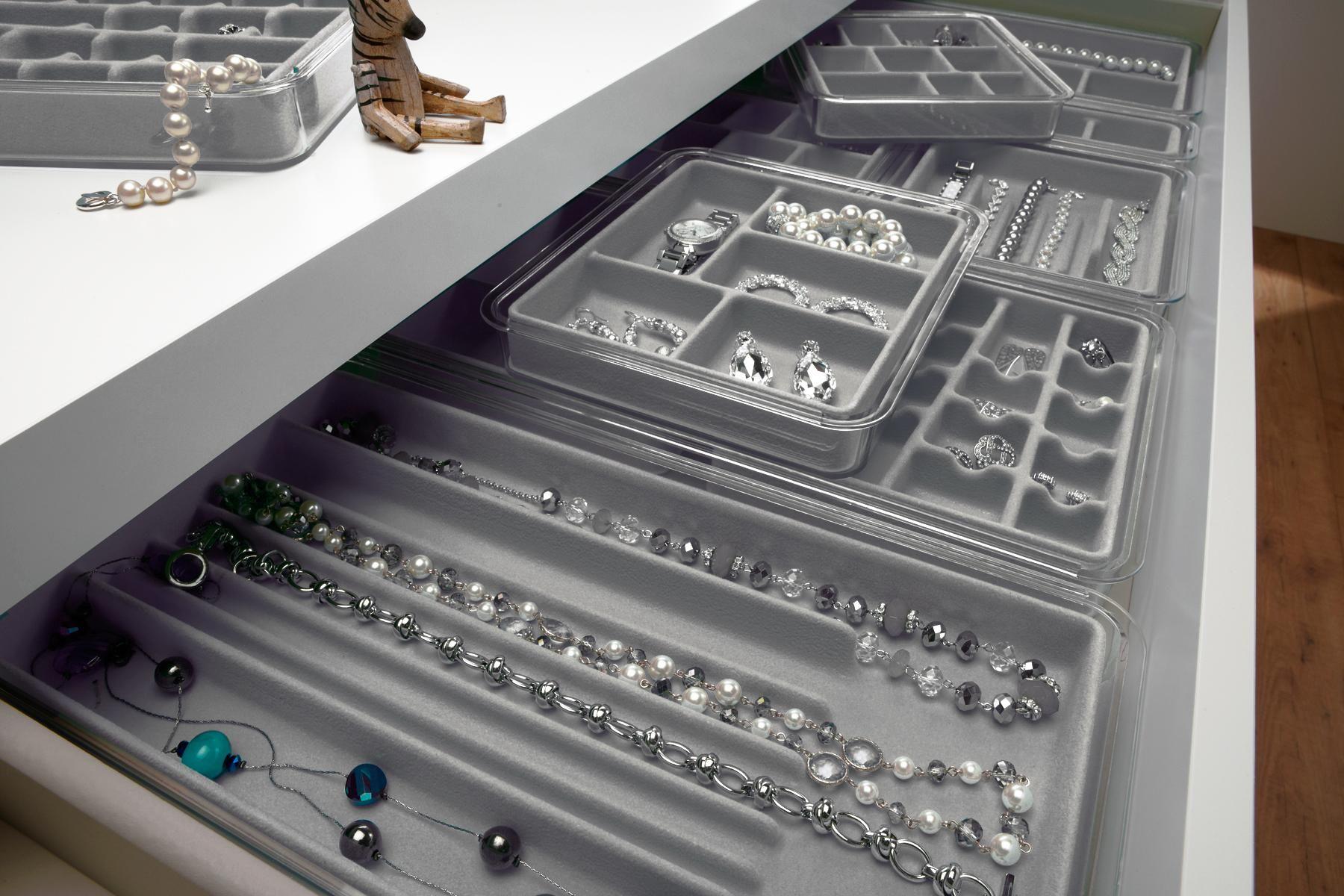 Neatnix Jewelry Organizer Tarnish Resistant Stacking Sliding
