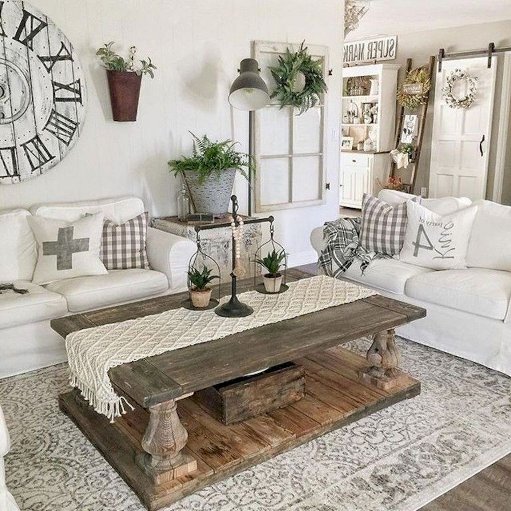 79 Cozy Modern Farmhouse Living Room Decor Ideas: 02 Cozy Farmhouse Living Room Decor Ideas