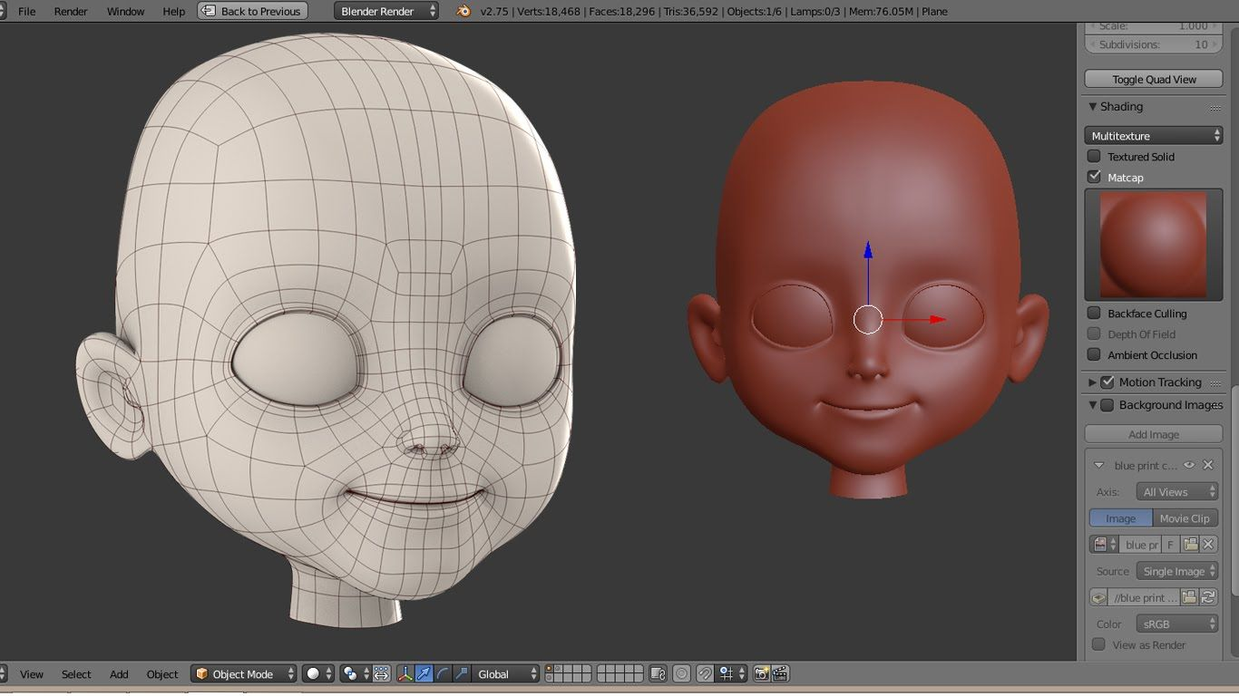 Blender Modeling A Cartoon Character : Character creation timelapse part quot head modeling d