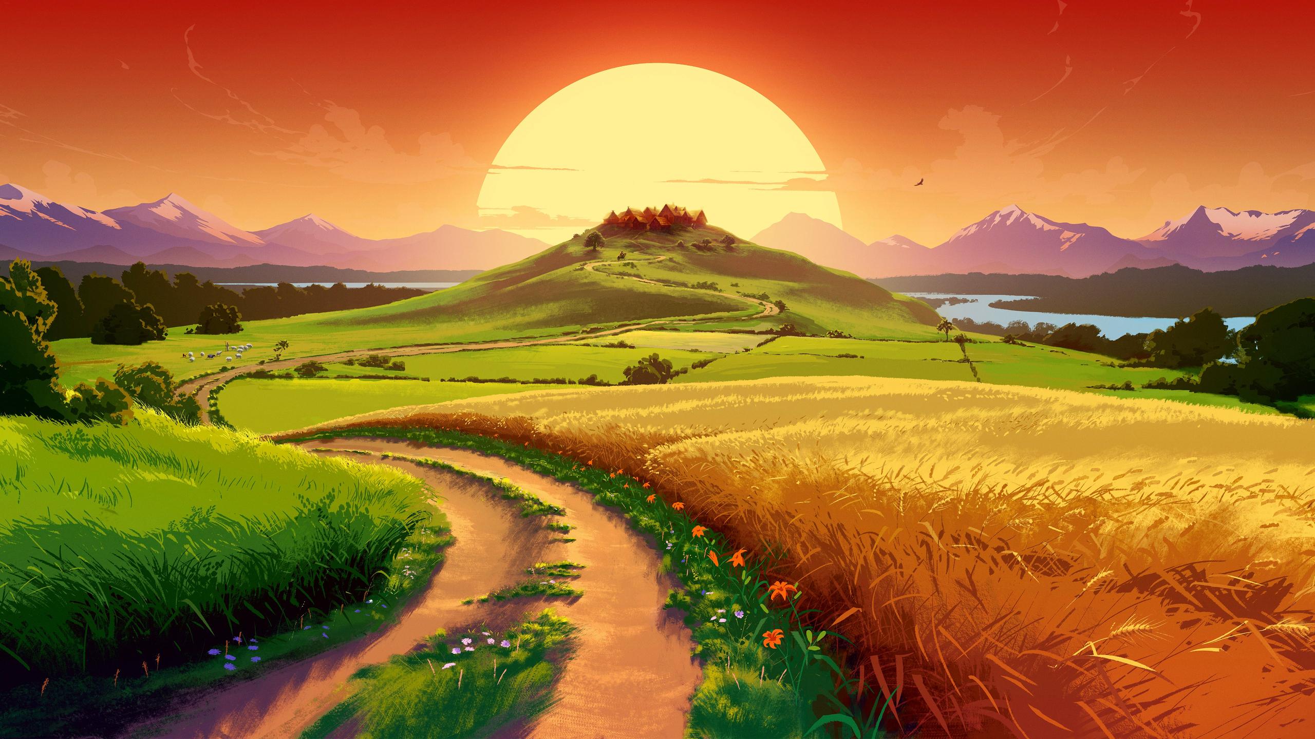 Sunset [2560x1440] Landscape wallpaper