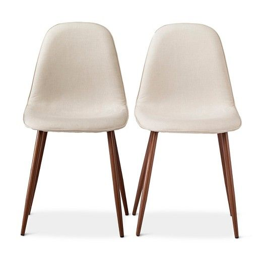 porter mid century modern dining chairs set of 2 chaises de salle a manger