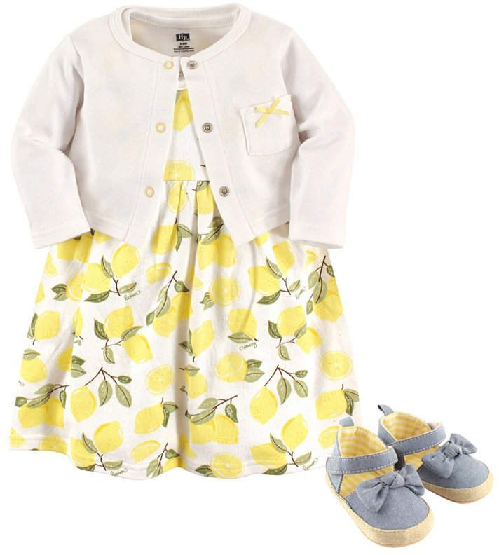 0acbce69919 Baby Vision Hudson Baby Dress, Cardigan and Shoes, 3-Piece Set, 0-18 Months
