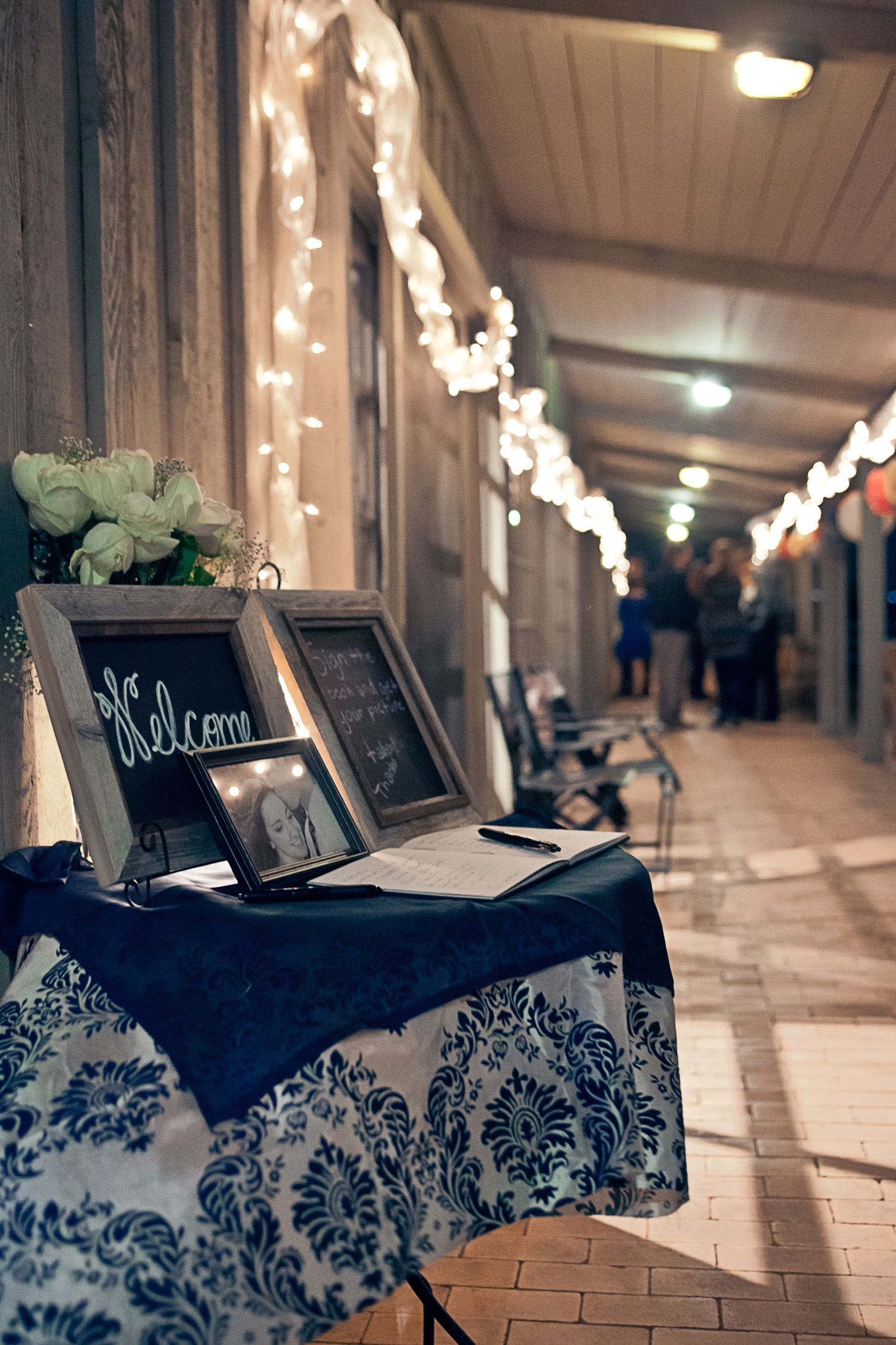 welcome/guest book and entry way with cute barnwood frames from ...