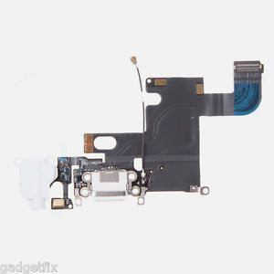 USA Charging Charger Port Dock Headphone Jack MIC White Flex Cable FOR Iphone 6 | eBay