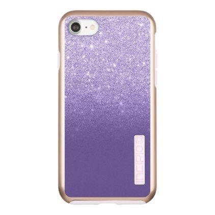 Ultra Violet Glitter Ombre Purple Color Block Incipio DualPro Shine IPhone 8 7 Case