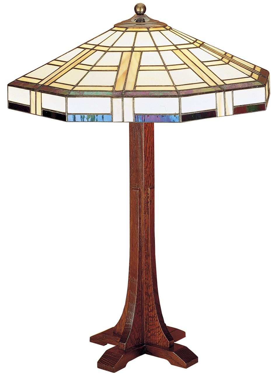 858d70278b403 Stickley Cross Base Table Lamp