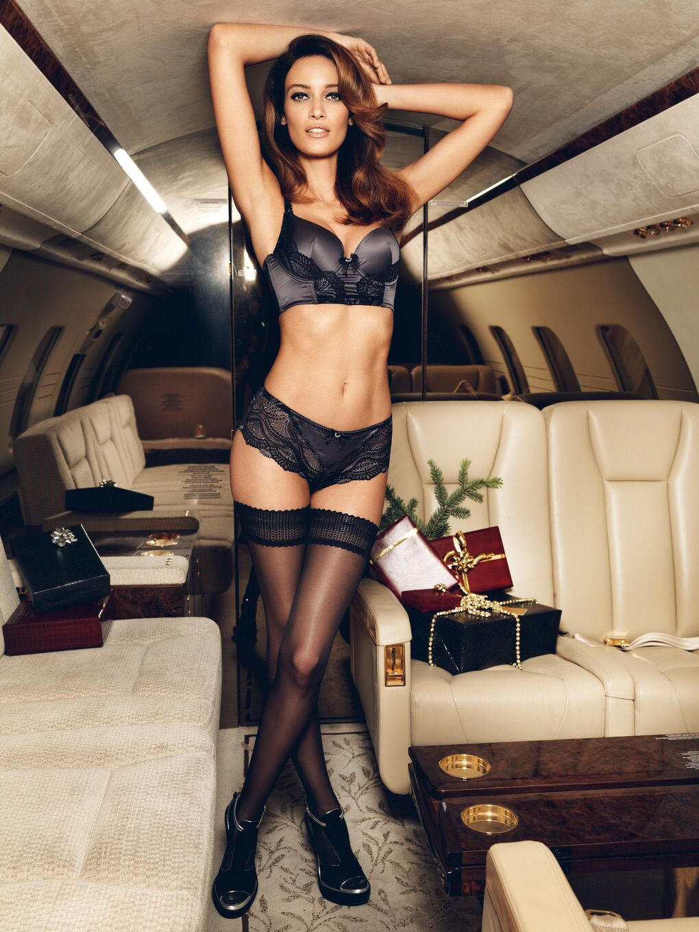 Naked woman private jet pic 594