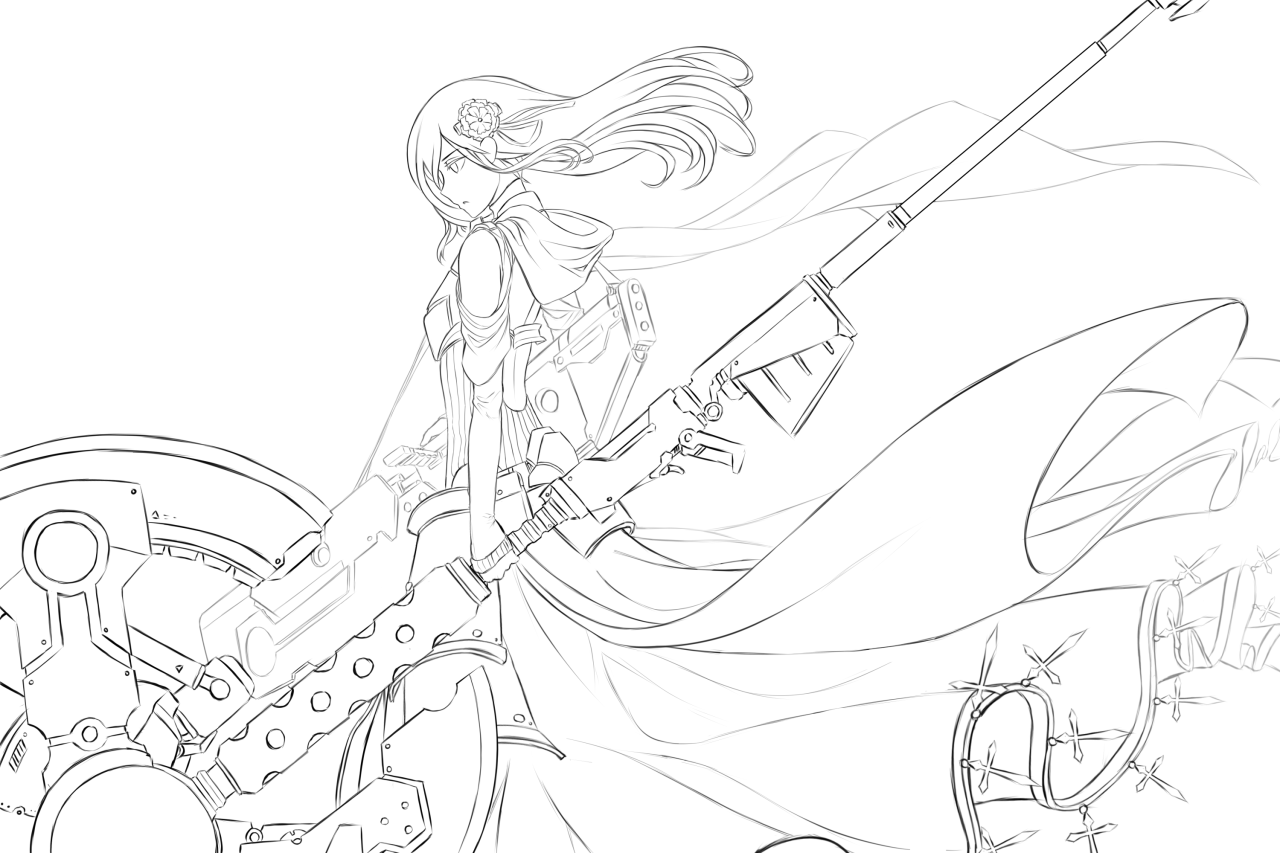 Rwby Anime Coloring Pages Sketch Coloring Page