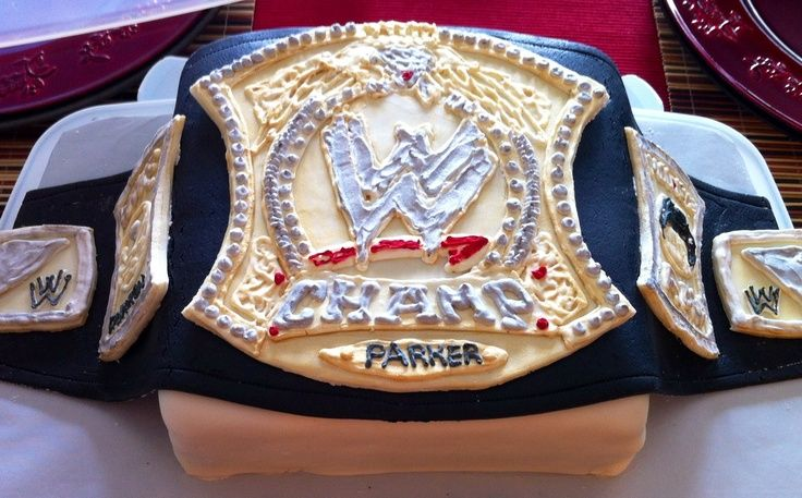 WWE Champion belt cake design WWE Pinterest Wwe champions - copy coloring pages wwe belts