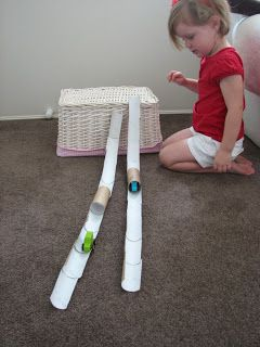 What do you do all day?: Toilet Roll Racetrack