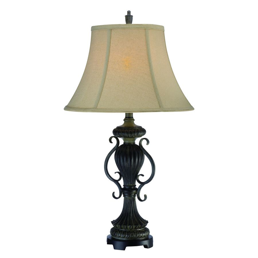 Shop Lite Source 30 1 2 In 3 Way Dark Bronze Table Lamp With Lite