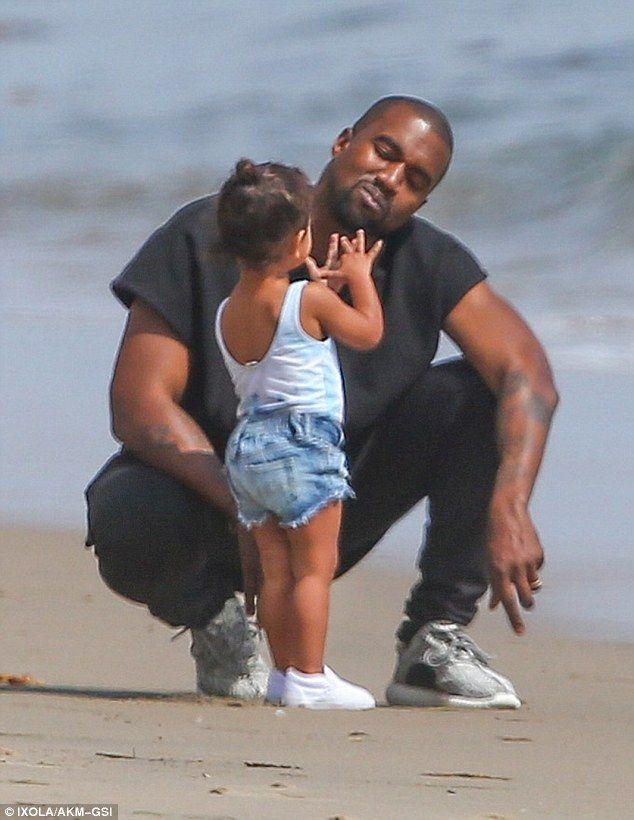 Kim Kardashian Looks On As Kanye And North Enjoy The Surf In Malibu Kim Kanye Kim Kardashian Kardashian