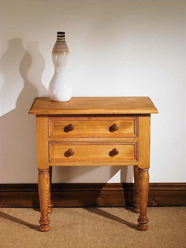 mottisfont waxed telephone table (wooden) | fantastic furniture