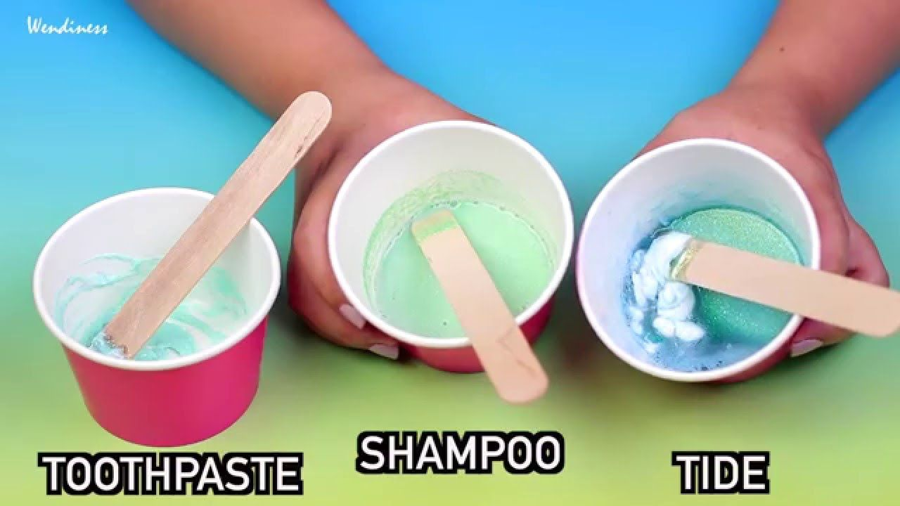Slime Testcan You Really Make Diy Slime With Toothpaste, Shampoo