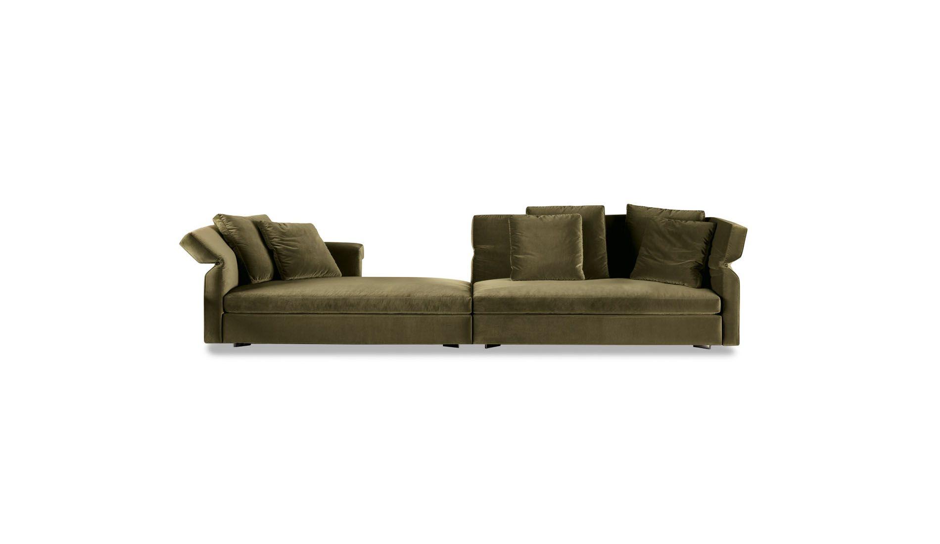 Minotti Collar Sofa 390 cm Verde Olio | Furniture | Pinterest
