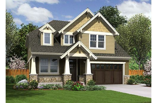 Two Story Craftsman Style Home Plans House Design Ideas