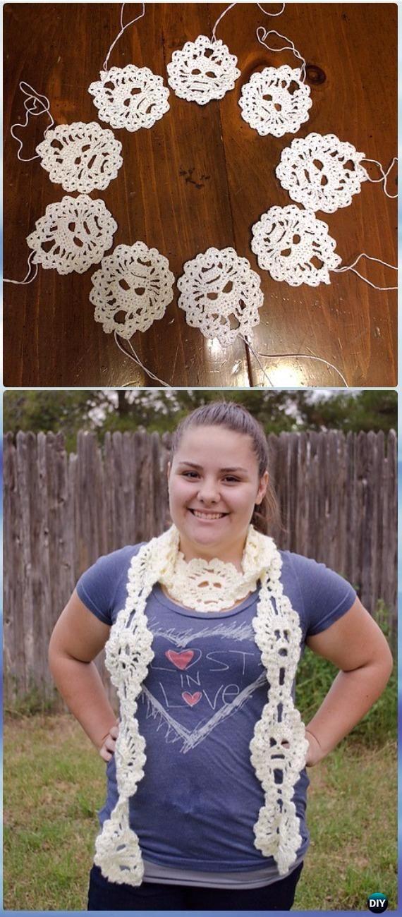 Crochet Lost Souls Scarf Free Pattern - Crochet Skull Ideas Free ...