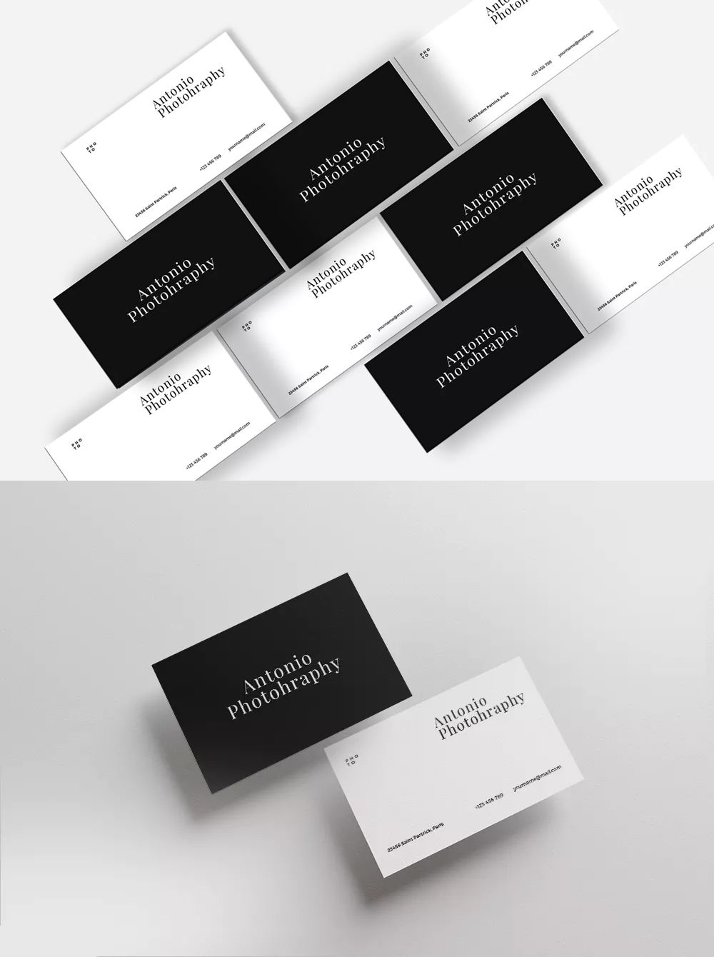 Minimalist Business Card Template PSD | Business Card Templates ...