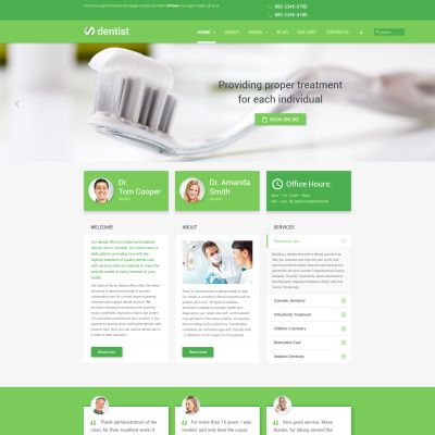 Dentist Joomla Template Template, Healthcare website and Website