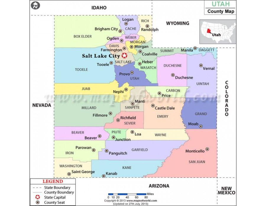 Buy Utah County Map Online County Map Utah County Utah