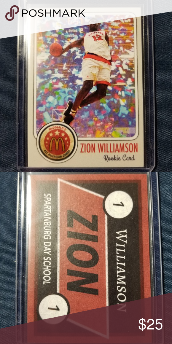 Zion Williamson Mcdonalds All American Rookie Card Zion