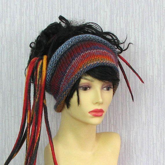 Dreadlock Headband Knitted Headwrap Tube Hat By