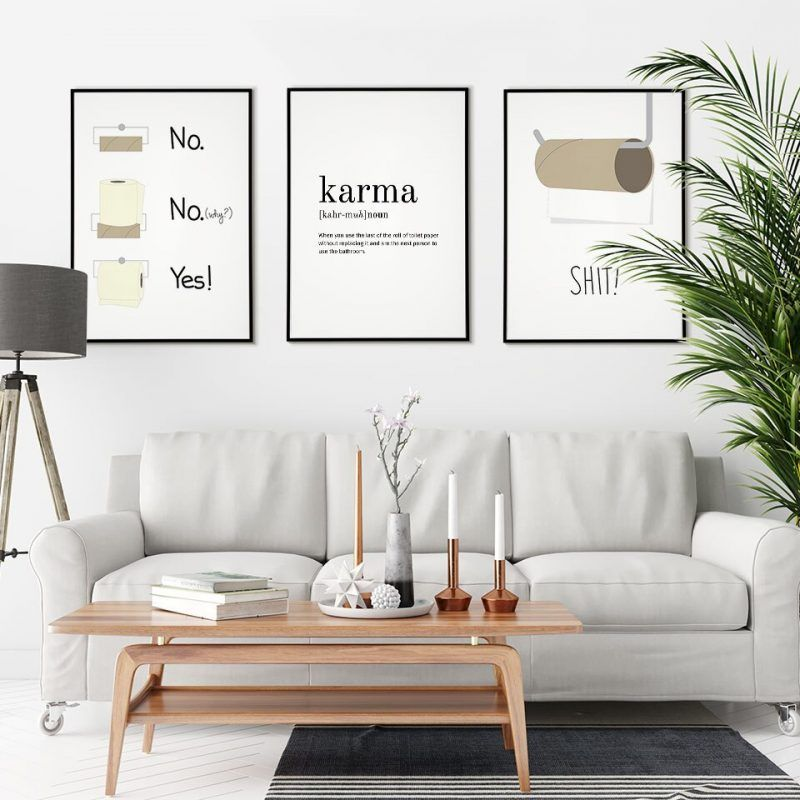 Funny Bathroom Poster Humor Canvas Painting Quote Scandinavian Wall Art Pictures For Living Room Modern Home Decorative Prins Living Room Pictures Living Room Modern Scandinavian Wall Art
