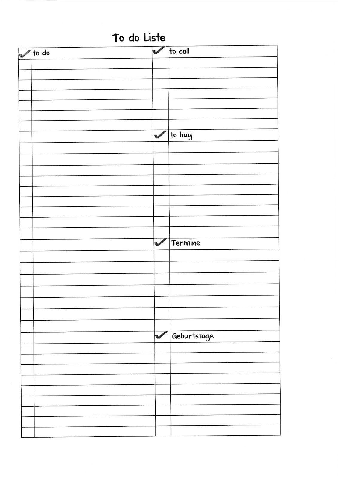 Familienplaner 2, To Do Liste, Wöchentliche TO DO Liste und ...
