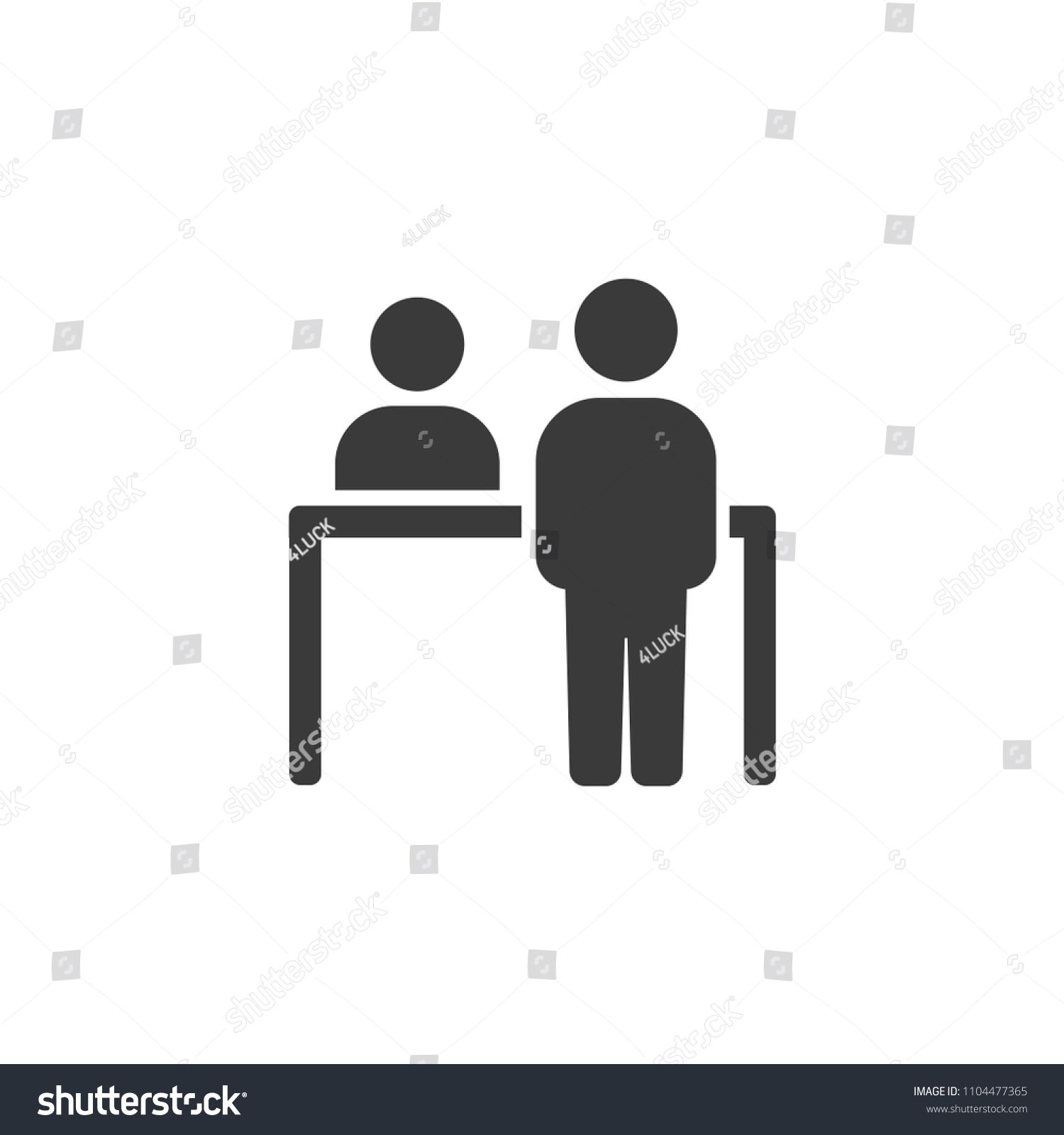 Customer Arrival Icon Customer At The Receptionist Sponsored Affiliate Arrival Customer Icon Receptionist Forest Illustration Icon Receptionist