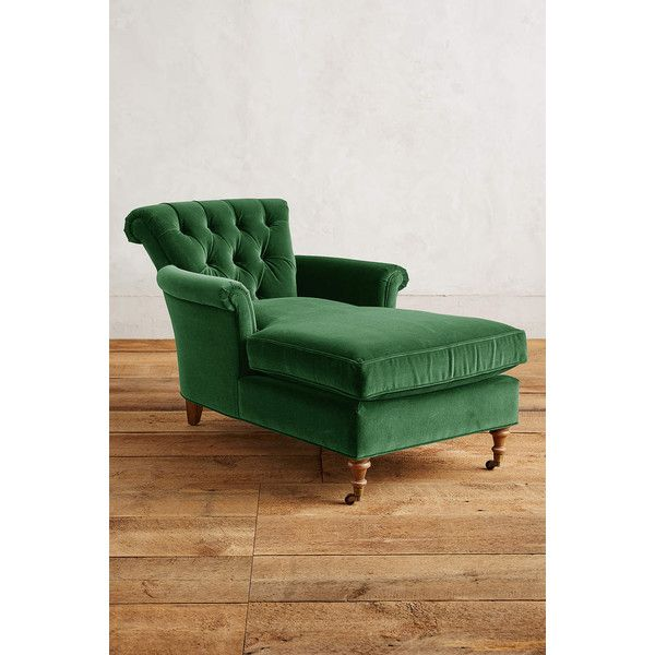 Velvet Gwinnette Chaise Lounge ($1298) ? liked on Polyvore featuring home furniture  sc 1 st  Pinterest : green velvet chaise lounge - Sectionals, Sofas & Couches