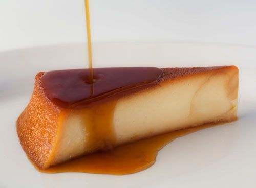 Watch how the caramel drips over the Flan, there is no way that you won't want to eat it.