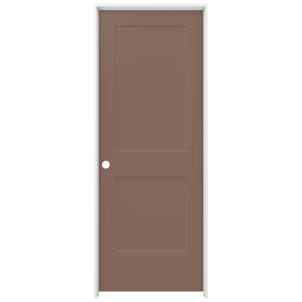 Jeld Wen 32 In X 80 In Smooth 2 Panel Medium Chocolate Solid Core