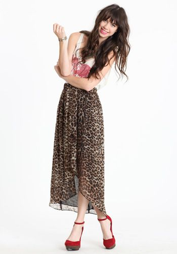into the wild leopard skirt. $43.00 @ threadscence.com