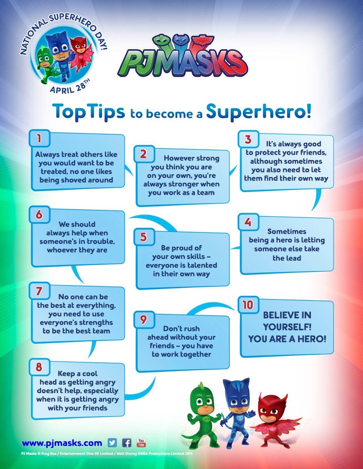 Fun Freetime Pj Masks National Superhero Day