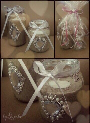 Decorating Candle Jars DIY two empty jars filled with sand and decorated as a candle 28